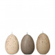 Vogeleikerze, H 90mm, D 60mm, natural sort. cream,